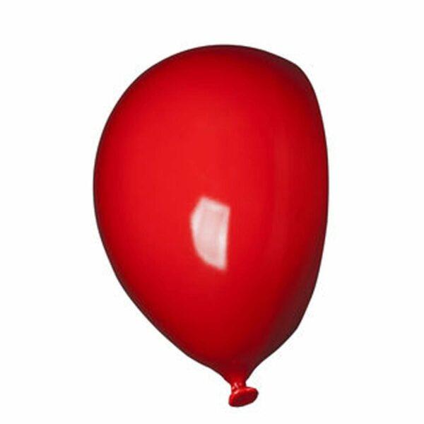 Umidificatore in ceramica bianca a forma di palloncino, collezione Balloon, colore rosso