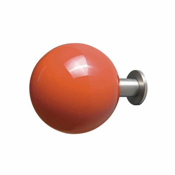 gancio appendiabiti a forma di pallina arancione