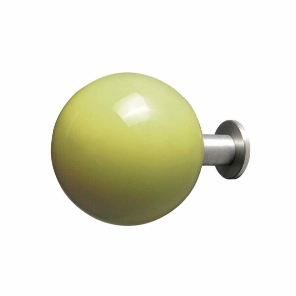 gancio appendiabiti a forma di pallina verde