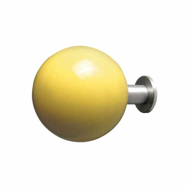gancio appendiabiti a forma di pallina giallo