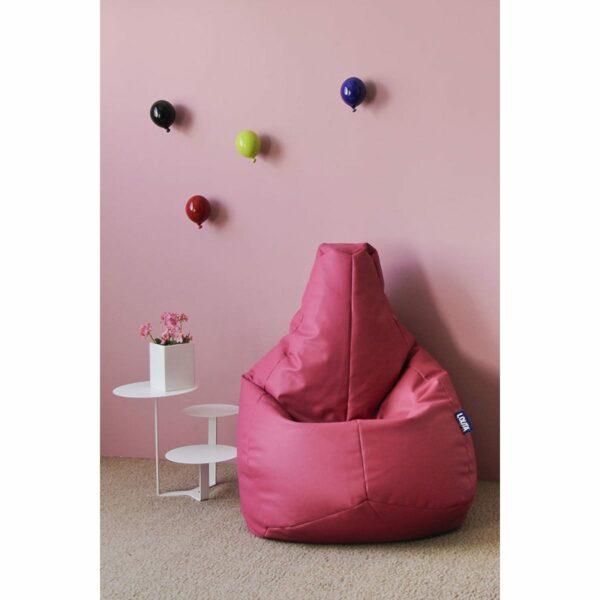 Palloncino in ceramica appendiabiti decorativo miniBalloon  bianco, grigio e rosa su parete