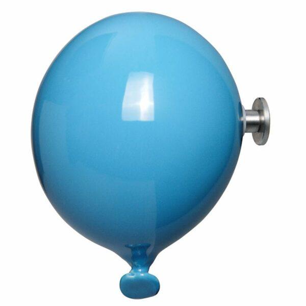 Palloncino in ceramica appendiabiti decorativo miniBalloon azzurro