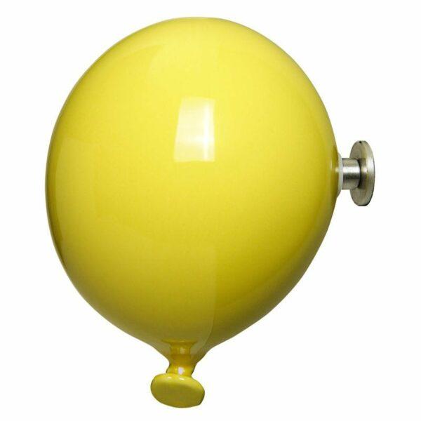 Palloncino in ceramica appendiabiti decorativo miniBalloon giallo