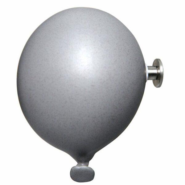 Palloncino in ceramica appendiabiti decorativo miniBalloon grigio