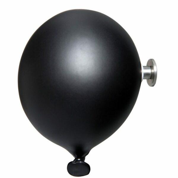 Palloncino in ceramica appendiabiti decorativo miniBalloon nero opaco
