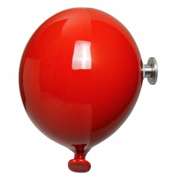 Palloncino in ceramica appendiabiti decorativo miniBalloon rosso