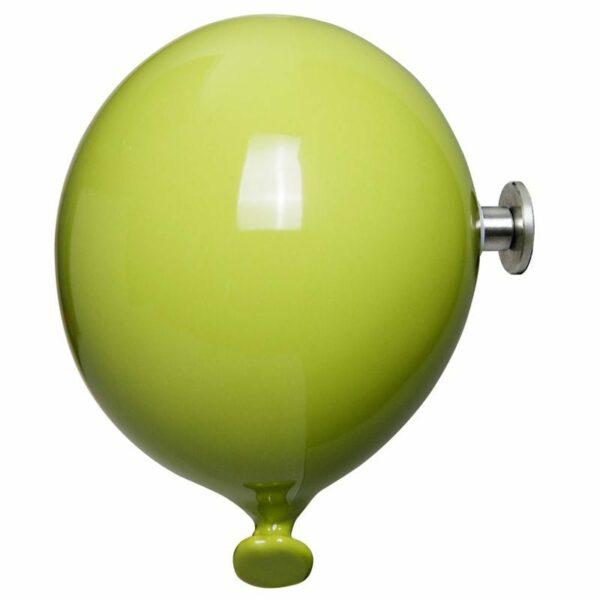 Palloncino in ceramica appendiabiti decorativo miniBalloon verde