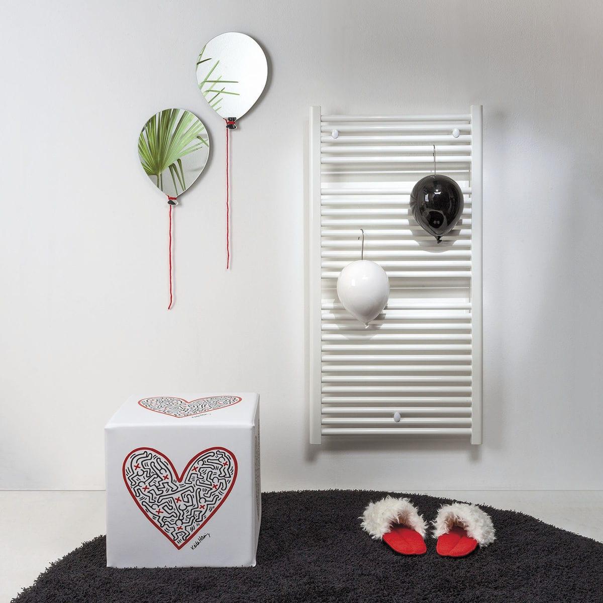 Umidificatori per radiatore in ceramica a forma di palloncino, collezione Balloon, colore bianco e nero