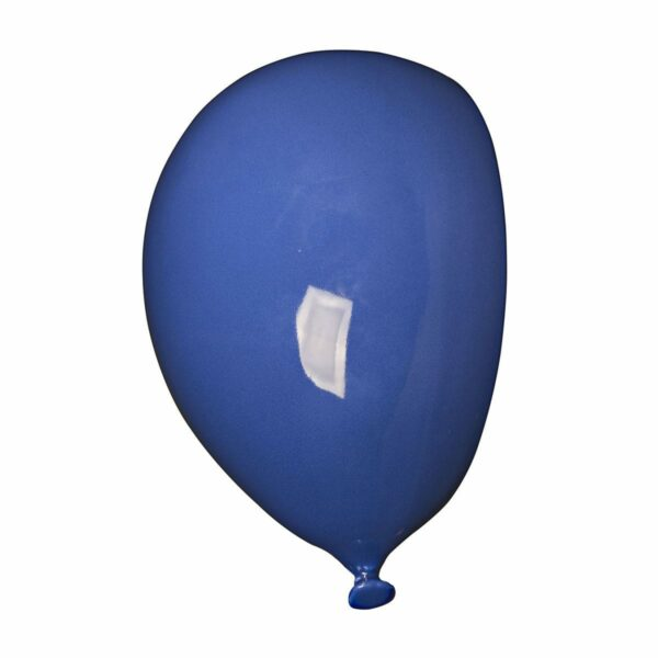 Umidificatore in ceramica bianca a forma di palloncino, collezione Balloon, colore blu
