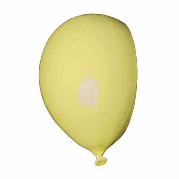 Umidificatore in ceramica bianca a forma di palloncino, collezione Balloon, colore giallo