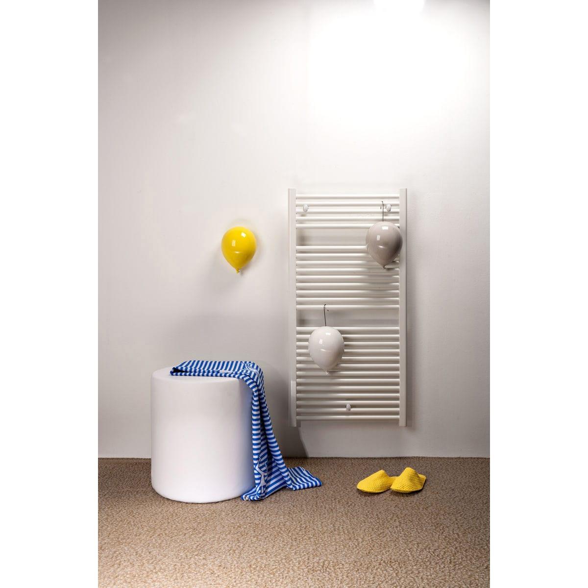 Umidificatori per radiatore in ceramica a forma di palloncino, collezione Balloon, colore giallo, bianco e grigio