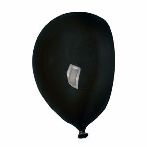 Umidificatore in ceramica bianca a forma di palloncino, collezione Balloon, colore nero