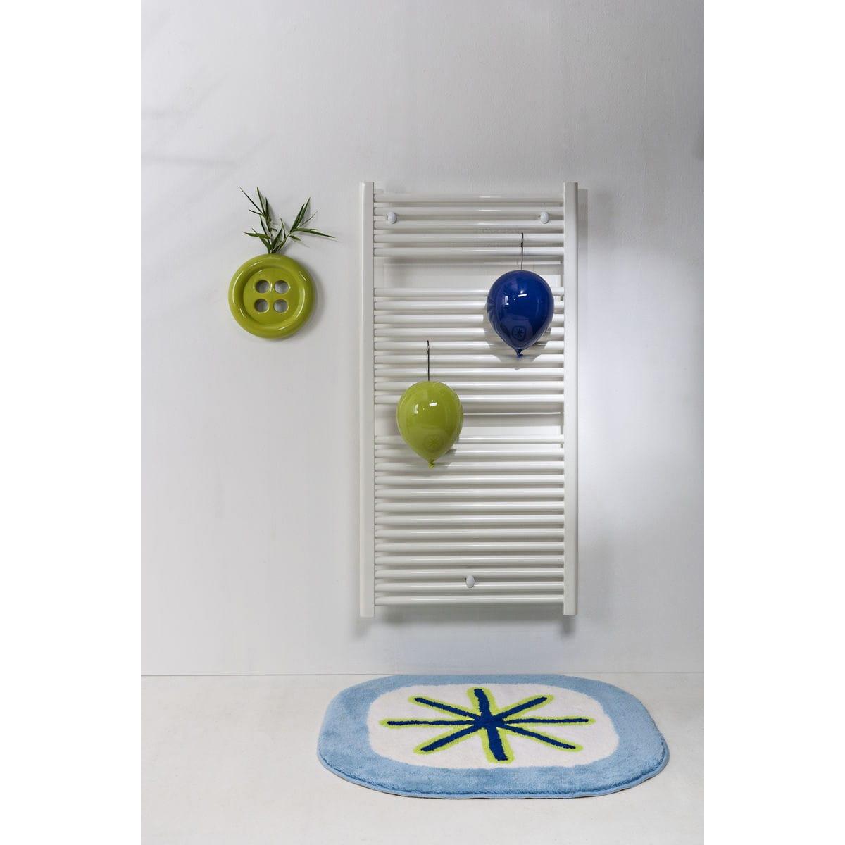 Umidificatori per radiatore in ceramica a forma di palloncino, collezione Balloon, colore verde e blu con umidificatore per termosifone a forma di bottone verde