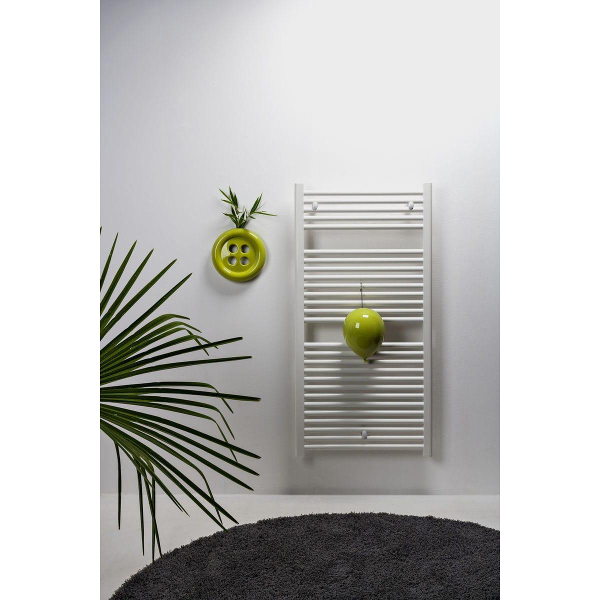 Umidificatori per radiatore in ceramica a forma di palloncino, collezione Balloon, colore verde con umidificatore per termosifone a forma di bottone verde