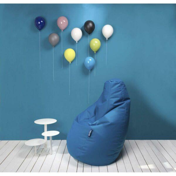 Palloncino decorativo in ceramica Balloon bianco, azzurro, blu, giallo, grigio, nero, rosa e verde su parete