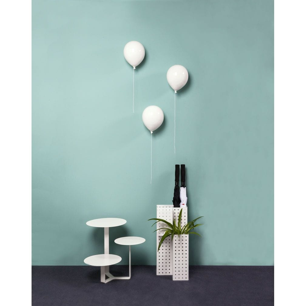 Palloncino decorativo in ceramica Balloon bianco su parete