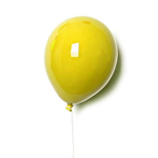 Palloncino decorativo in ceramica Balloon giallo