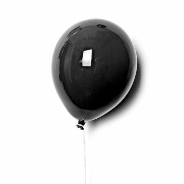 Palloncino decorativo in ceramica Balloon nero lucido