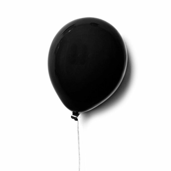 Palloncino decorativo in ceramica Balloon nero opaco