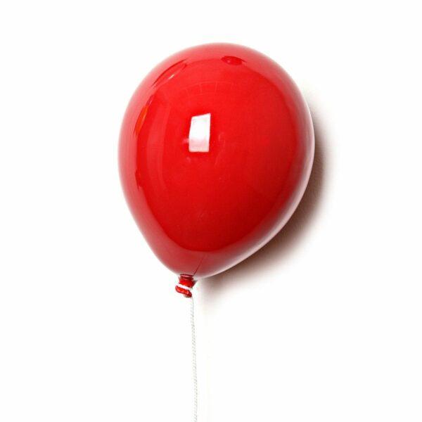 Palloncino decorativo in ceramica Balloon Rosso