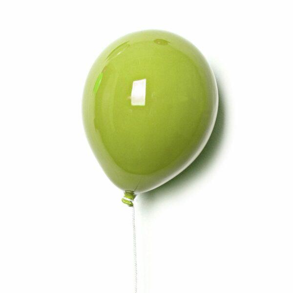 Palloncino decorativo in ceramica Balloon verde