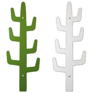 attaccapanni da parete a forma di cactus