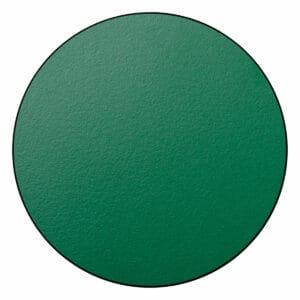 Appendiabiti a forma circolare della collezione Art-Up con pomello in acciaio inox e appendiabiti HPL colore verde oliva