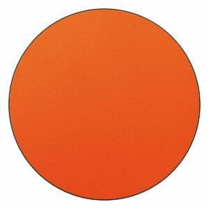 Appendiabiti a forma circolare della collezione Art-Up con pomello in acciaio inox e appendiabiti HPL colore arancione