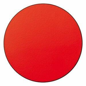 Appendiabiti a forma circolare della collezione Art-Up con pomello in acciaio inox e appendiabiti HPL colore rosso