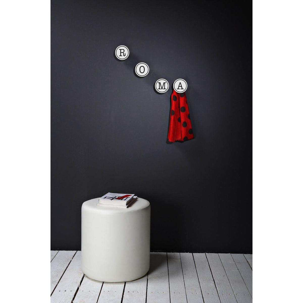 gancio appendiabiti da parete art-up alphabet