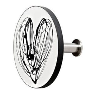 gancio appendiabiti da parete art-up black heart