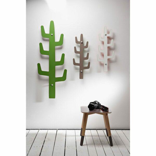 attaccapanni da muro di design a forma di saguaro stilizzato