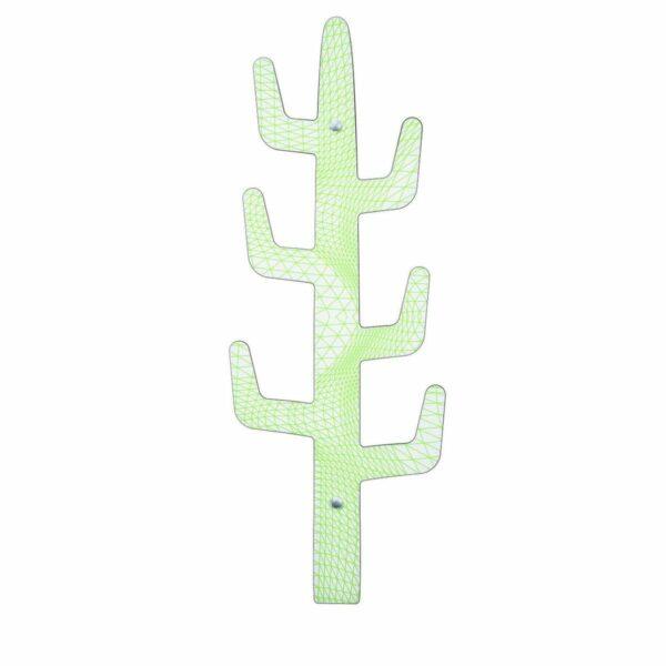 appendiabiti moderno da parete a forma di cactus con decoro firmato Karim Rashid