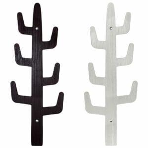 Appendiabiti di design moderno realizzato in stratificato HPL doppio uso un lato nero un lato grigio chiaro