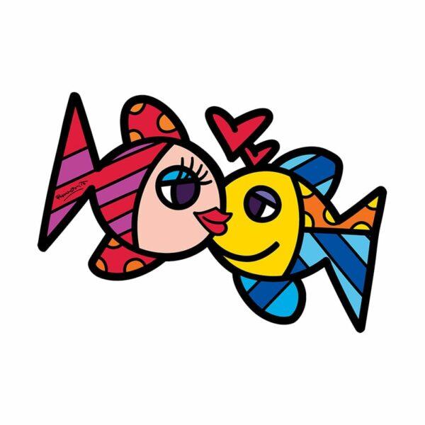 decorazione per parete che rappresenta due pesci tratti da un opera artistica di Romero Britto