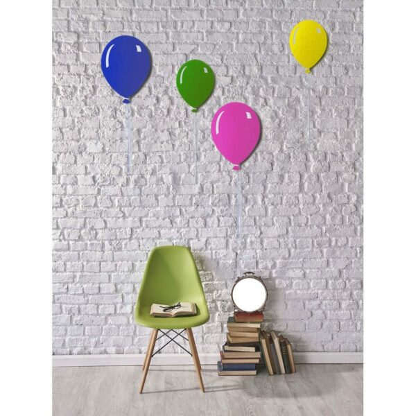 Pannelli da parete decorativi a forma di palloncino piatto con filo bianco colorati