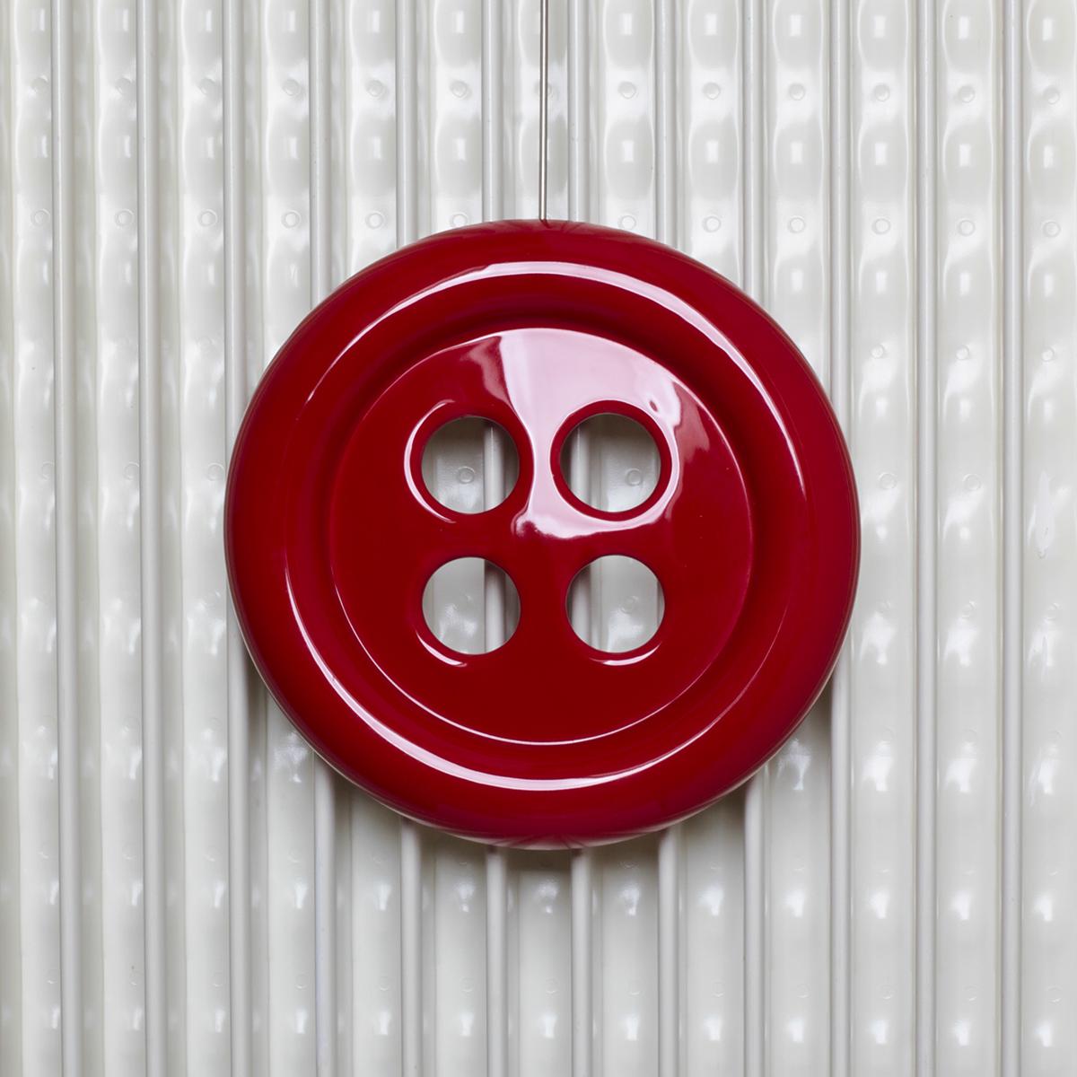 umidificatore design a forma di bottone rosso
