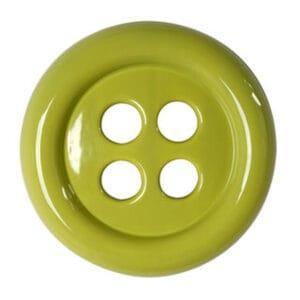 Umidificatore per termosifone in ceramica a forma di bottone colore verde