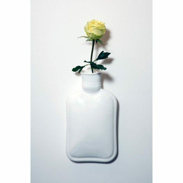 Umidificatore per termosifone in ceramica a forma di boulle colore bianco