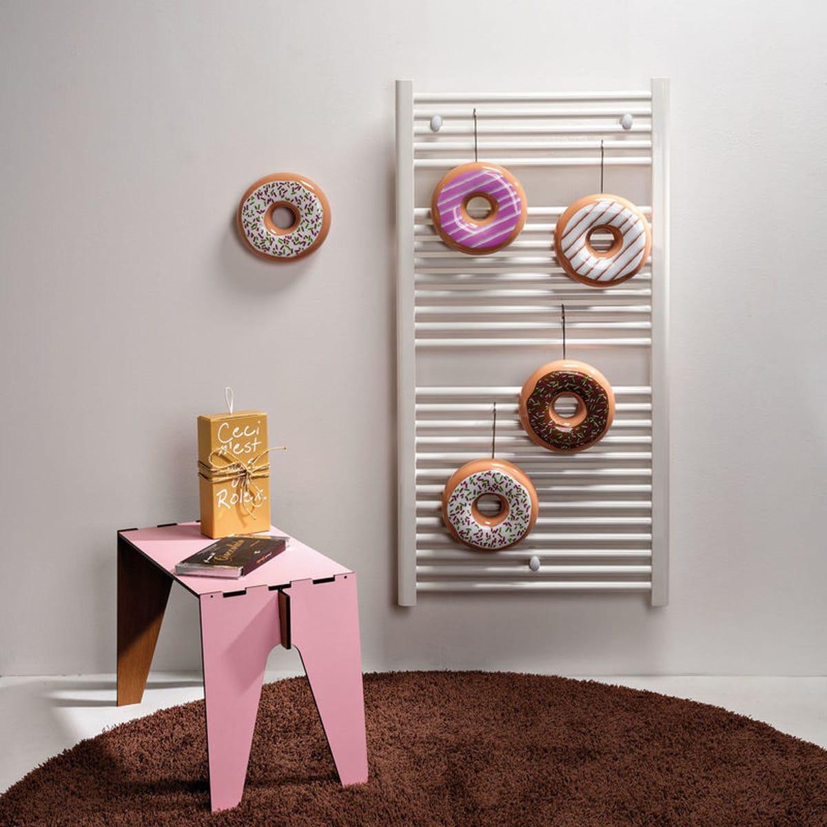 Umidificatori per termosifone in ceramica colorata a forma di ciambella, donut