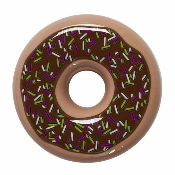 Umidificatore in ceramica colorata forma di ciambella, donut