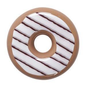 Umidificatore per termosifone in ceramica colorata a forma di ciambella, donut
