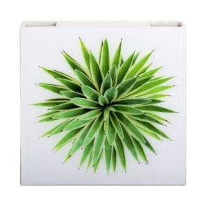 Umidificatore per termosifone in ceramica a forma di vaso con artwork floreale CDT in resina stampata