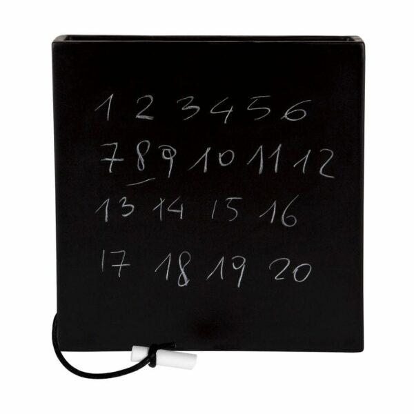 Umidificatore per termosifone in ceramica a forma di vaso nero concept di Laura Ellero