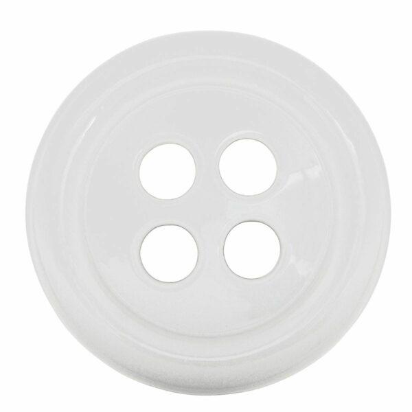 Umidificatore per termosifone in ceramica a forma di bottone colore bianco