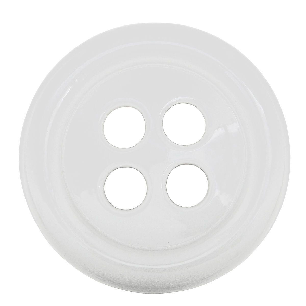 Umidificatore in ceramica a forma di bottone colore bianco
