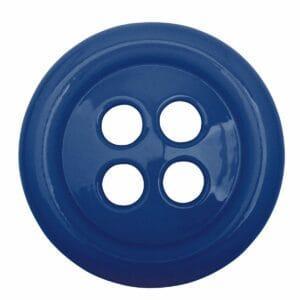 Umidificatore per termosifone in ceramica a forma di bottone colore blu