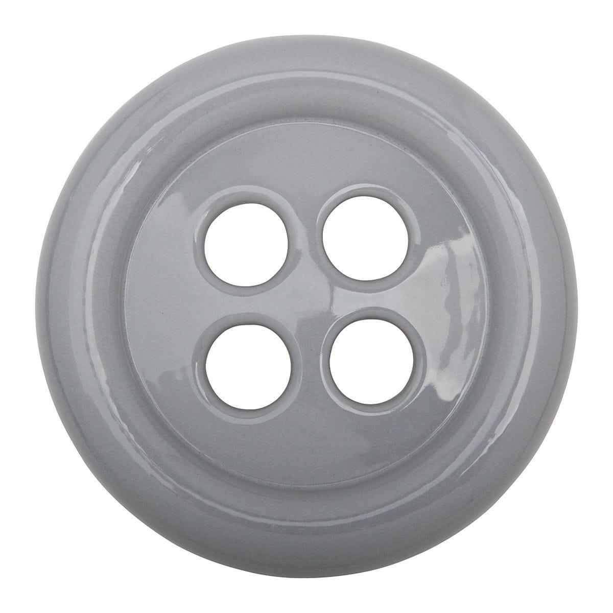 Umidificatore in ceramica a forma di bottone colore grigio