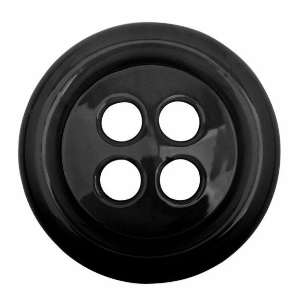 Umidificatore in ceramica a forma di bottone colore nero