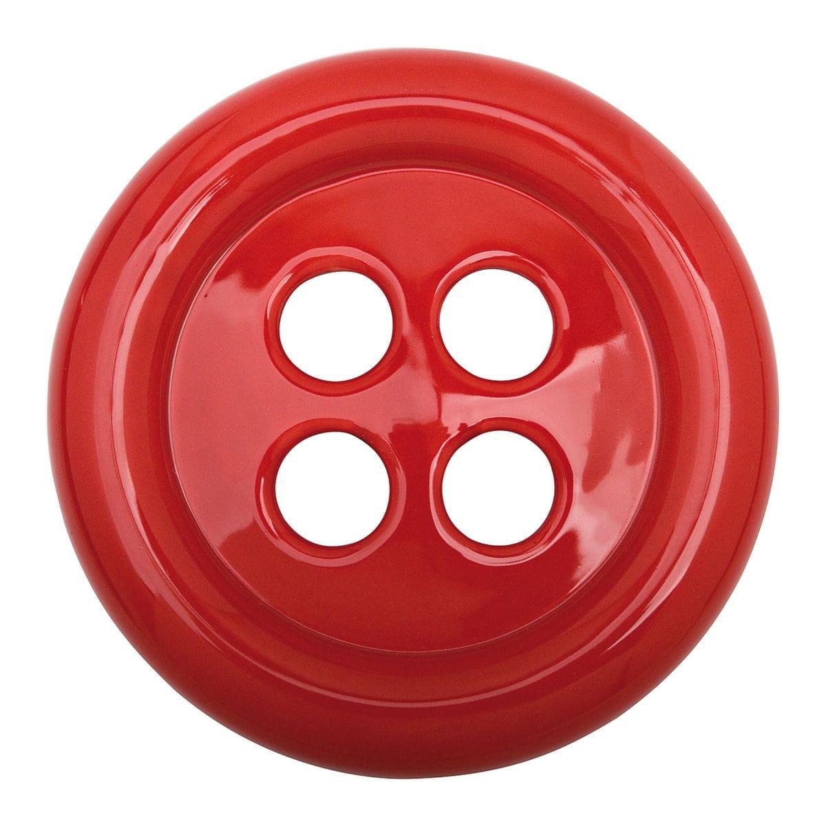 Umidificatore in ceramica a forma di bottone colore rosso